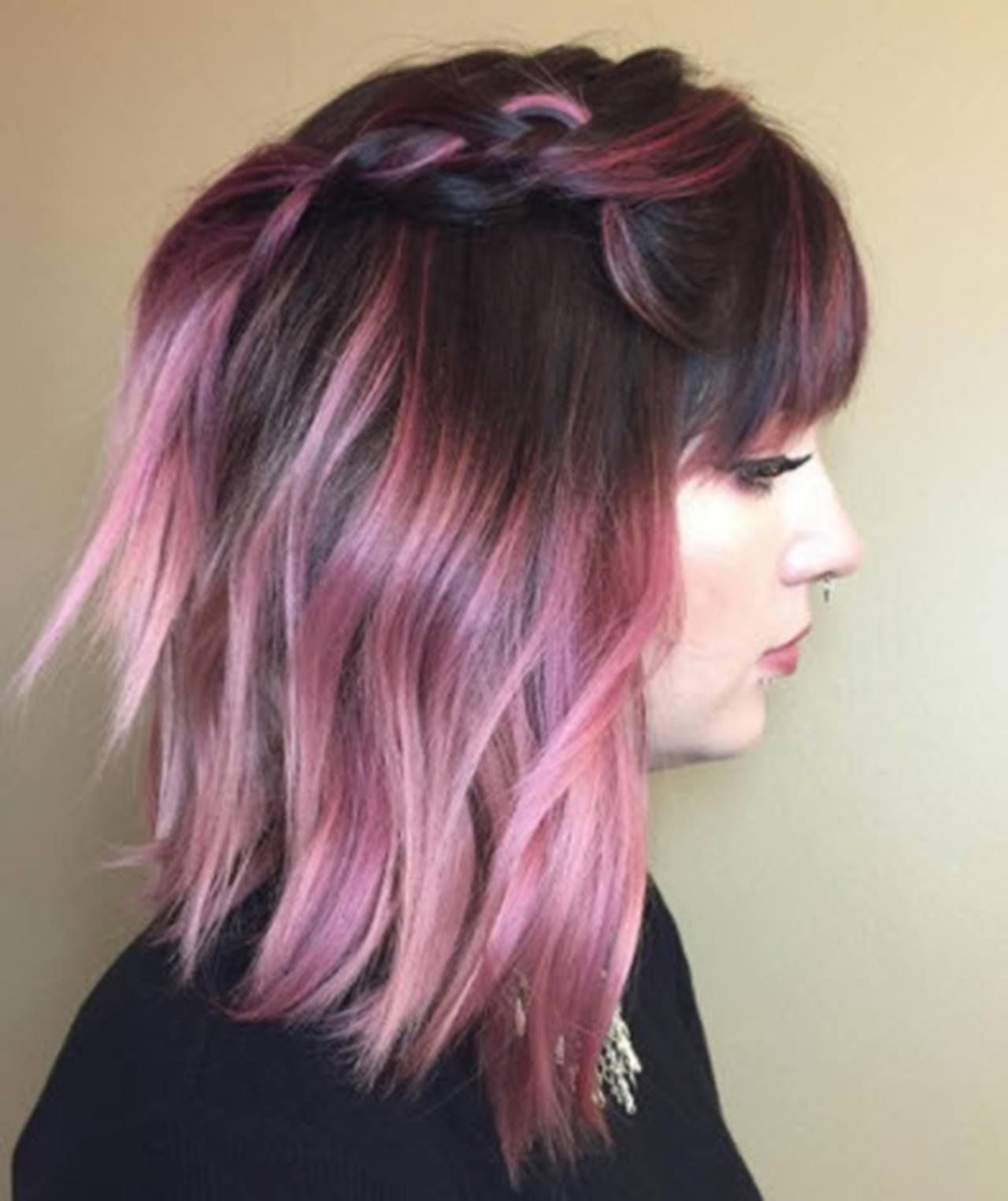 28 Stunning Violet Hair Color Ideas For All Skin Tones Hair Com By L Oreal Hair Color Pink Ombre Hair Color Pink Hair