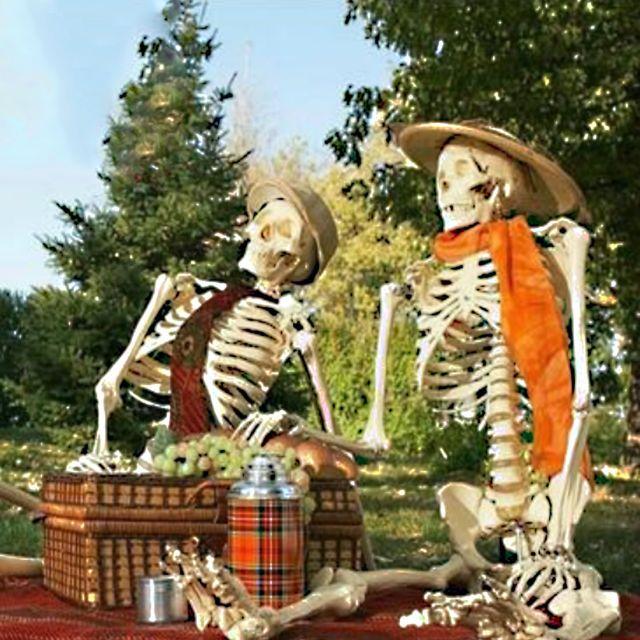 Realistic Skeleton haunted house Decor Scary Skull Man Bone Creepy - michaels halloween decorations