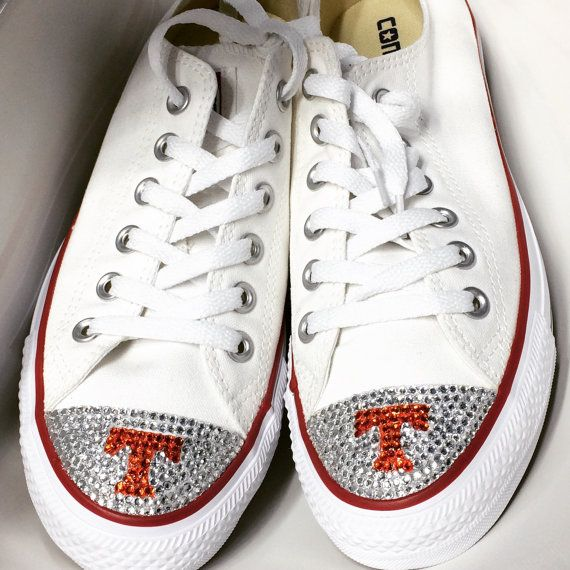 Collage Football Bling Converse Shoes Low Top. by TrickedKicks