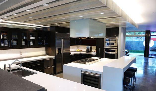 Gorgeous Modern Kitchen Interesting Ceiling Design Idea