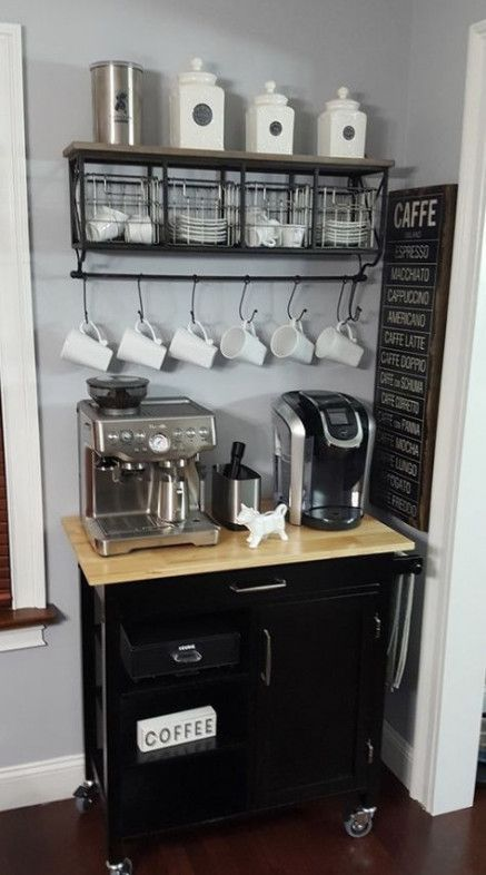 Espresso Machine Corner Coffee | The Best Home Coffee Stations Ideas, Tips and Designs