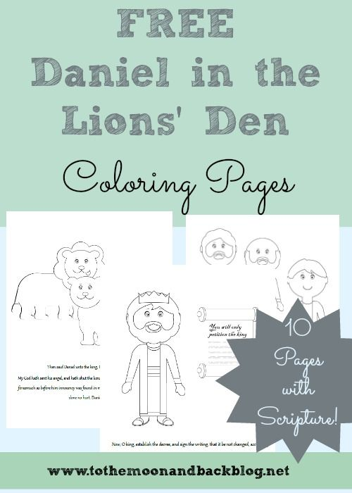 L Is For Lions FREE Daniel In The Lions Den Coloring Pages