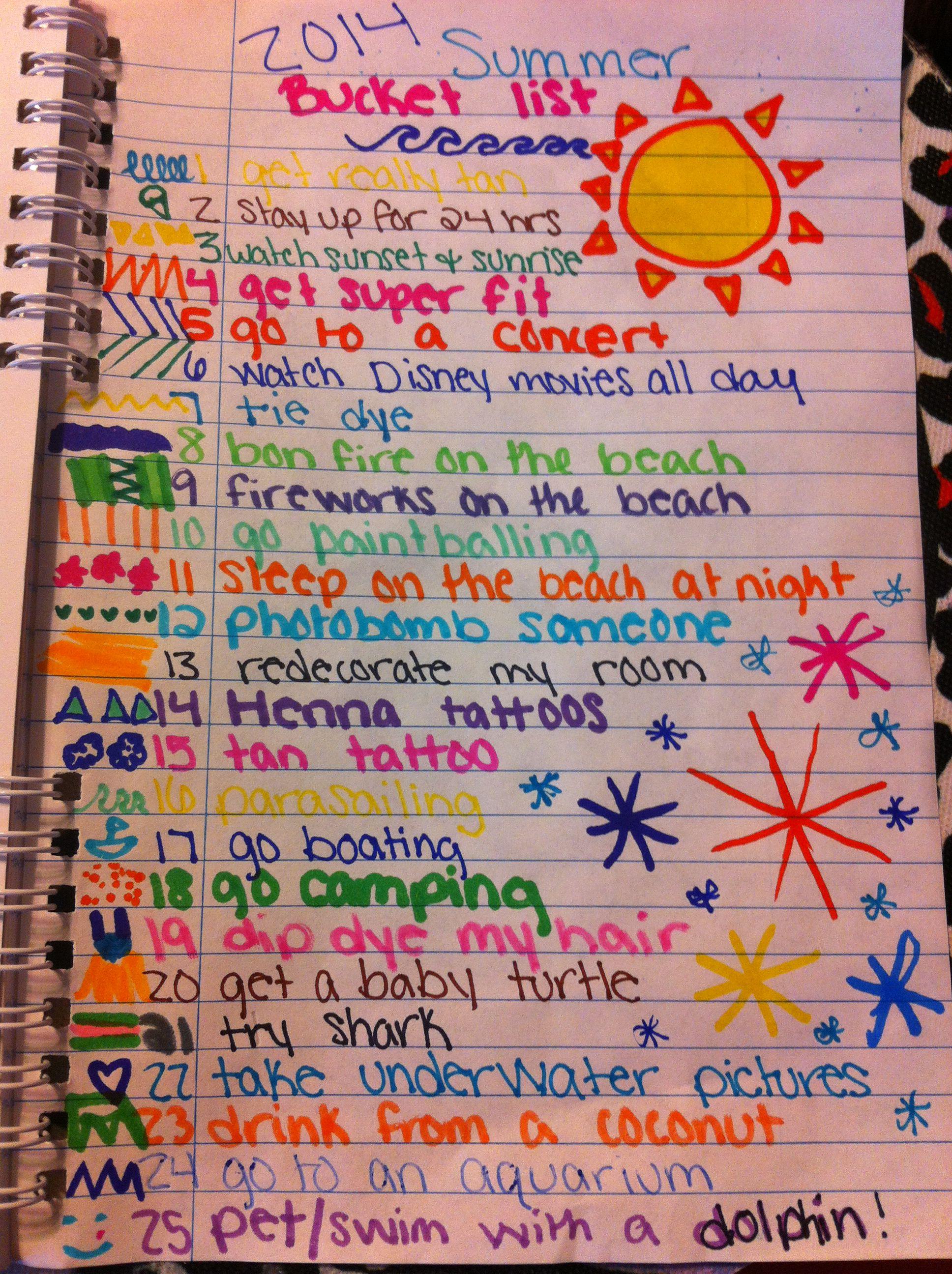 The Summer Bucket List I Made For Summer