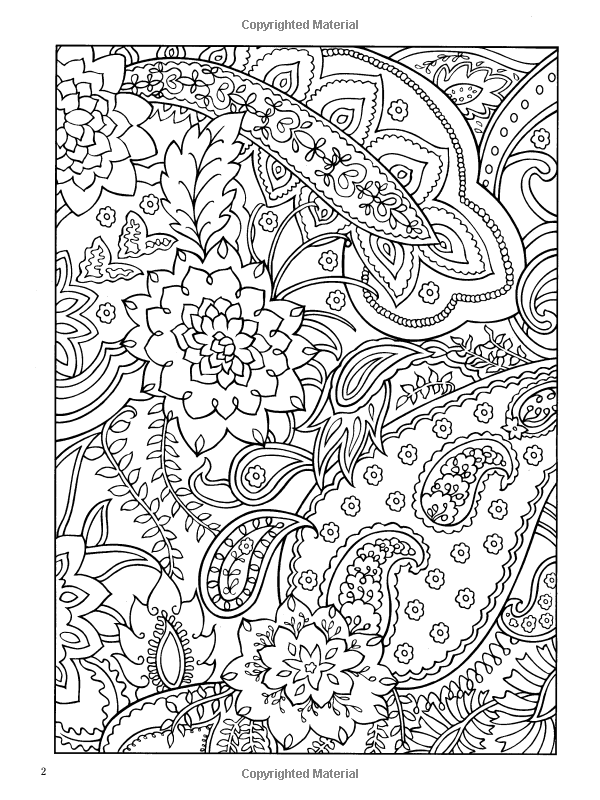 Paisley designs coloring book dover design coloring books marty noble 9780486456423 amazon com books