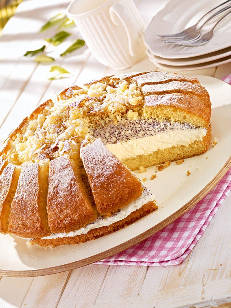 Mohn Kase Sahnetorte Rezept Kuchen Backen Pinterest Mohn