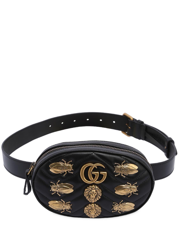 1c7e1fe97653e7 GUCCI SMALL GG MARMONT BELT PACK W/ APPLIQUÉS. #gucci #bags #belt bags #