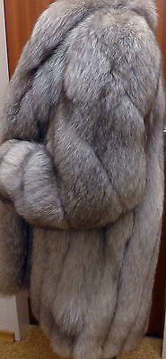 Bigfoot blaufuchs renard argenté gorille saga Fox Fur Jacket exquise quality