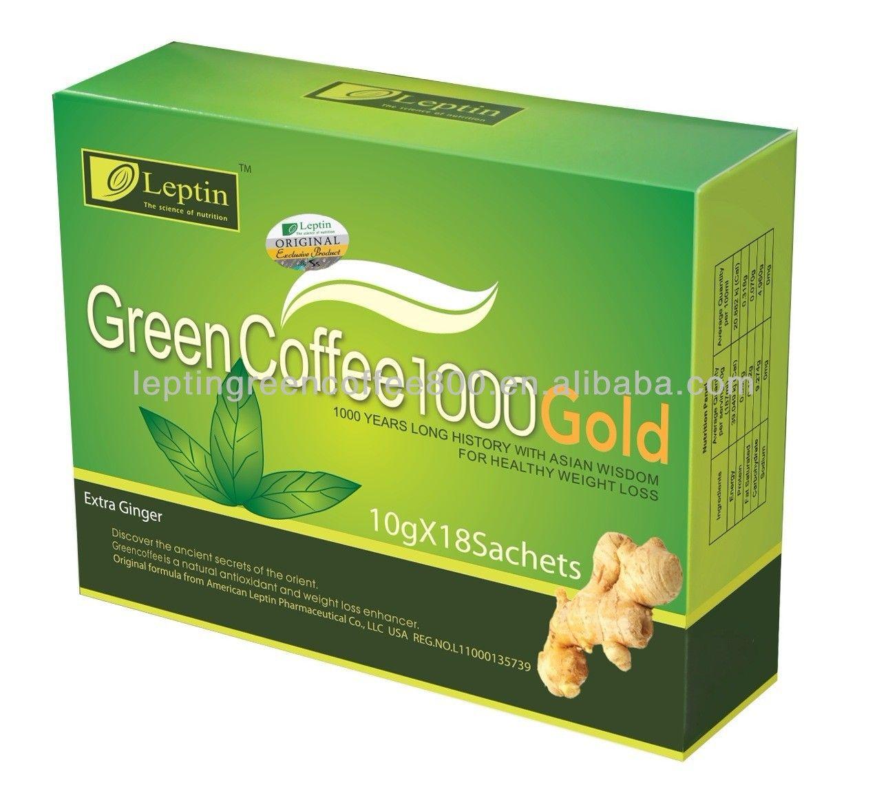 Leptin Green Coffee 1000 Gold with GingerOEM Original