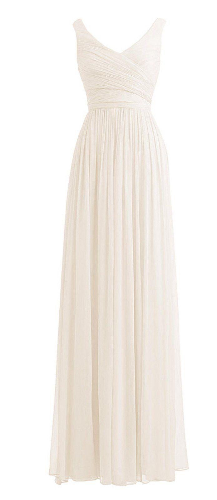 *Maillsa Elegant V-neck Fancy Long Chiffon Maxi Evening ...