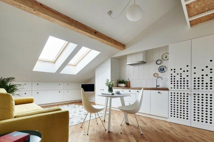 Küche Dachschräge - 50 Ideen für ein auffälliges Küchendesign - küche in dachschräge