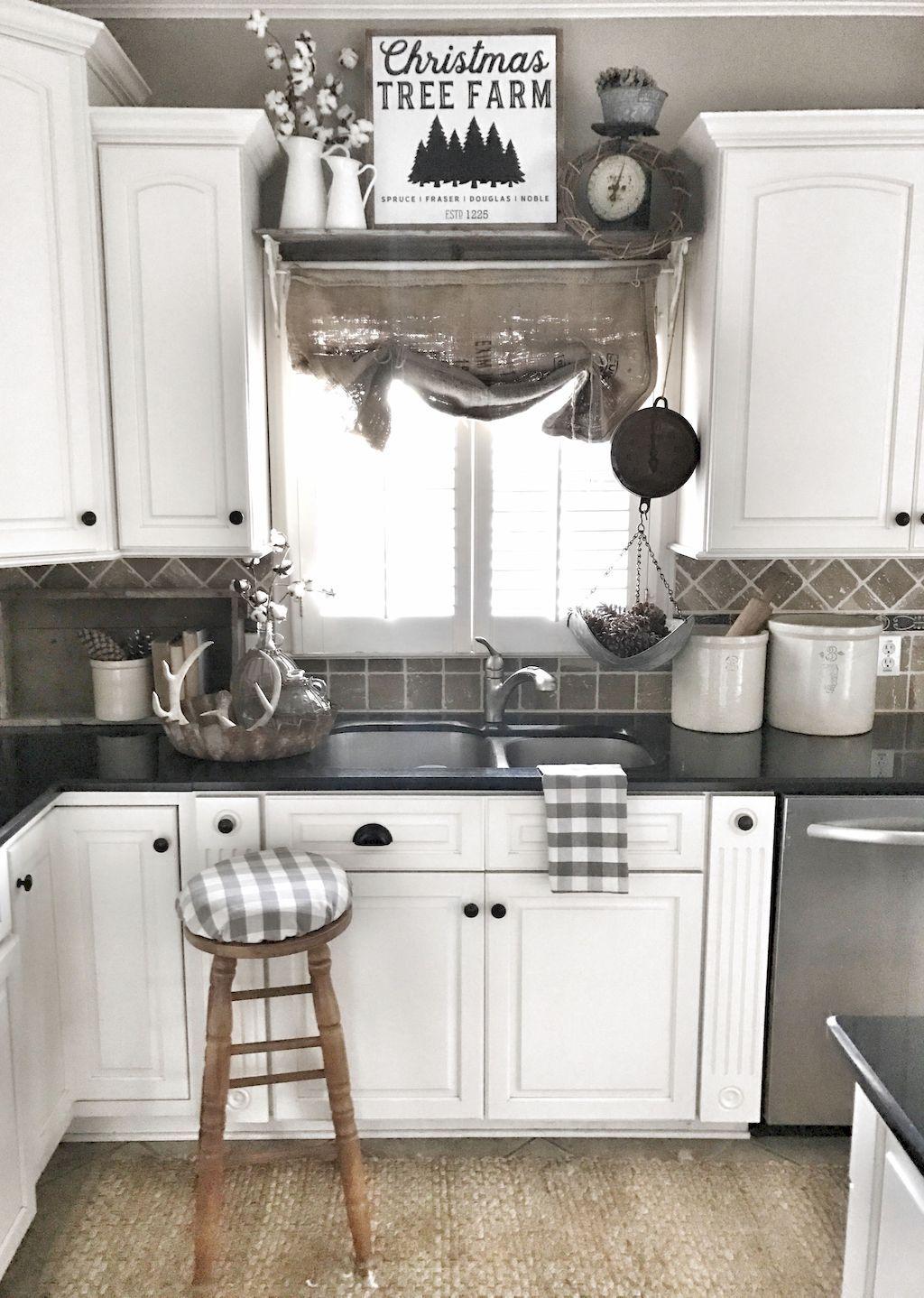 Gorgeous 50 Farmhouse Kitchen Cabinets Decorating Ideas On A Budget Https Carribeanpic Farmhouse Kitchen Decor Kitchen Cabinets Decor Antique White Kitchen