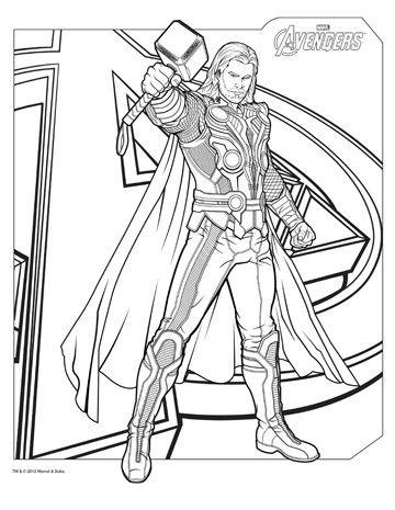 dibujos de superheroes para imprimir thor | Super Heroes Marvel ...