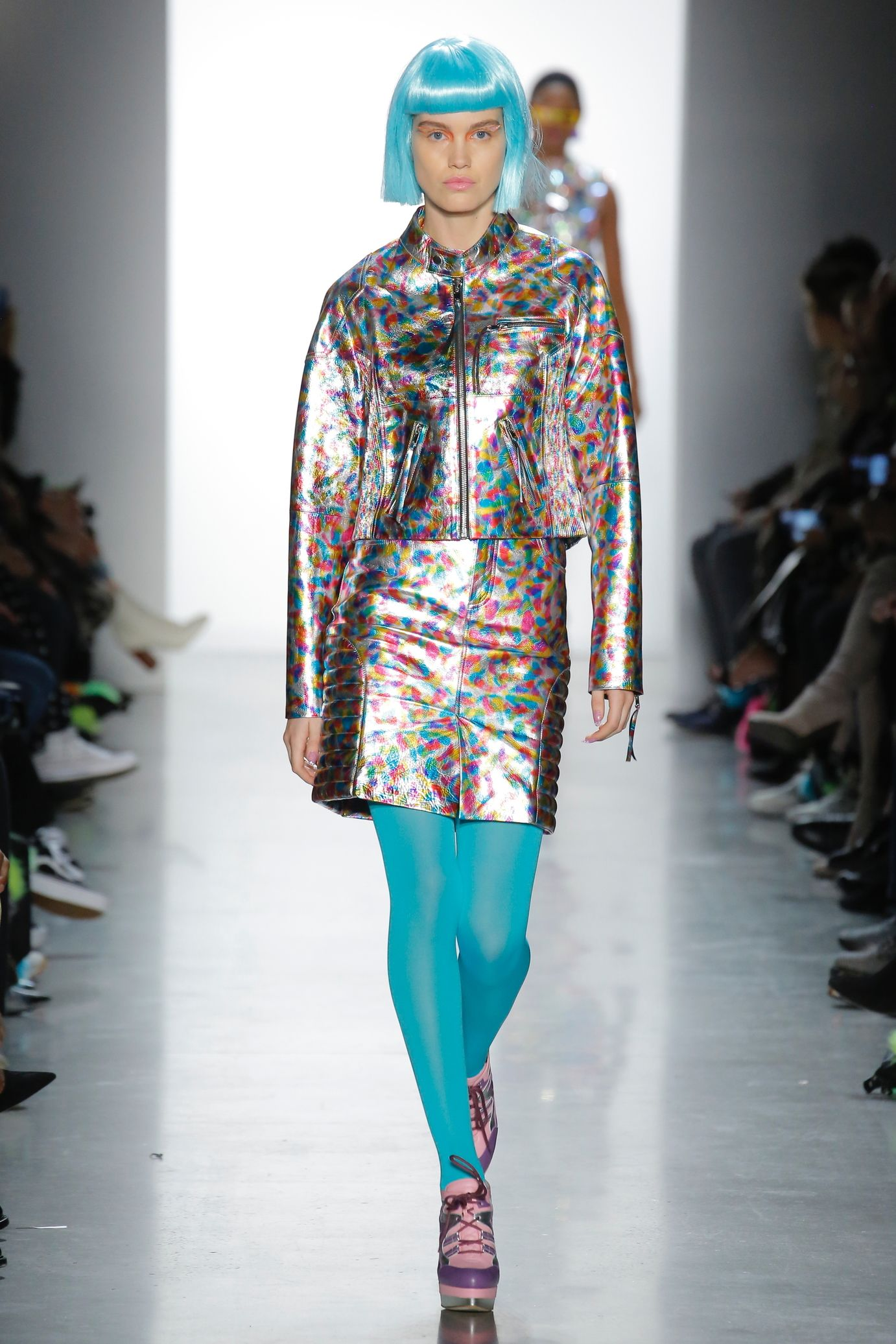 Image result for jeremy scott holographic fashions fall 2018