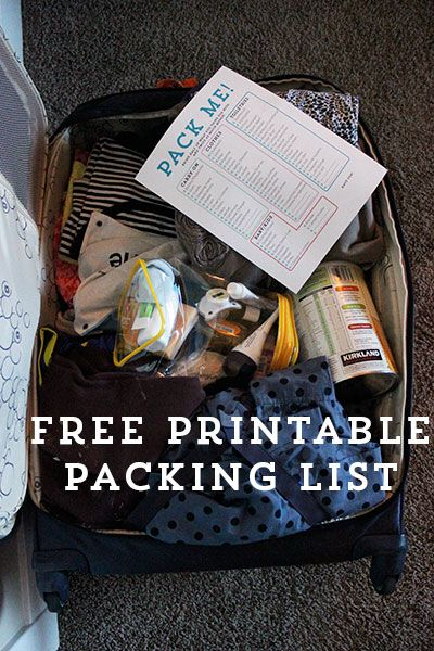 Travel Packing List - Free Printable Travel ideas Pinterest