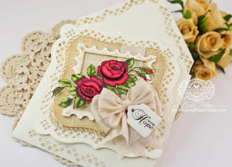 Card Making Ideas Using Punches Part - 40: Card Making Ideas By Becca Feeken Using Punch Board Enveloped Embellished  With Spellbinders A2 Bracket Border