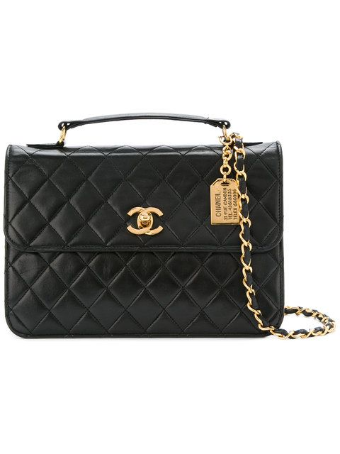 7a746231d311 Chanel Vintage CC Logos 2way Chain Shoulder Hand Bag Leather  4