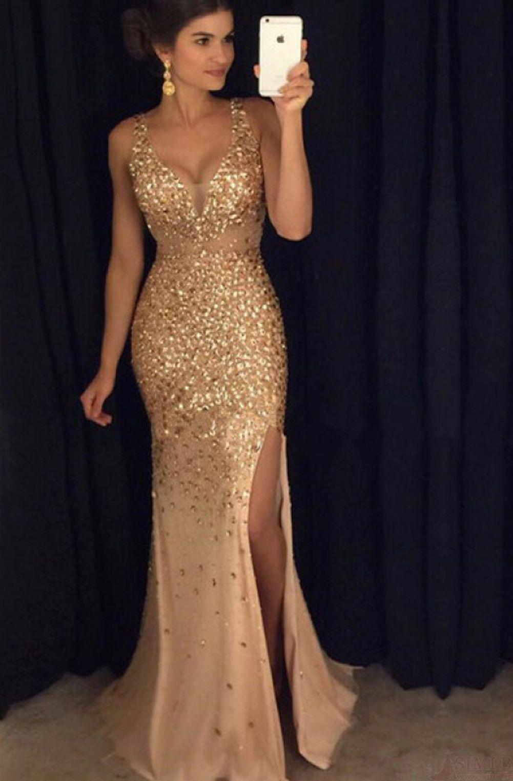 Prom dressesbeading prom dressesvneck prom dressessexy prom