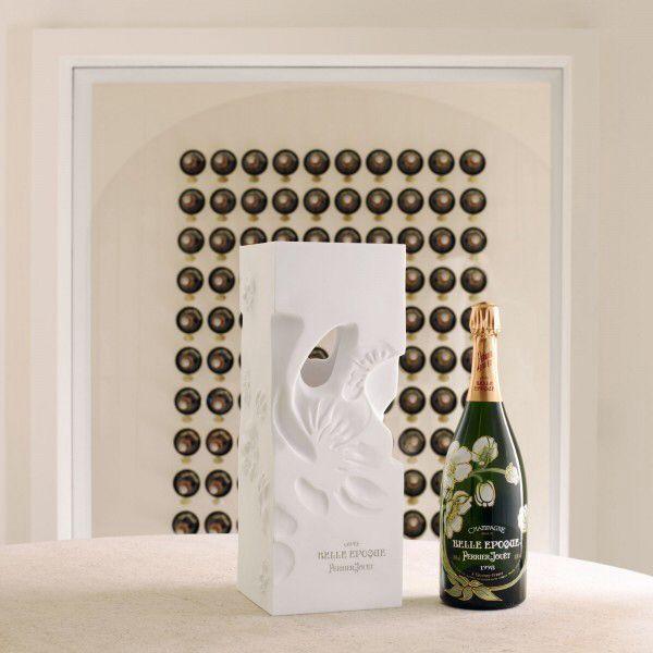 Romantic celebratory bottle champagne