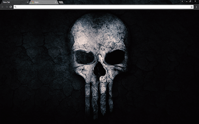 Crossbone Skull Google Chrome Theme Skull Wallpaper