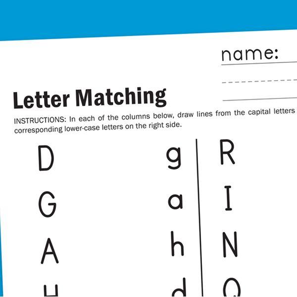 Letter Matching Worksheet Worksheets For Children Letter Matching Worksheet Letter Matching Alphabet Phonics Preschool letter matching worksheet