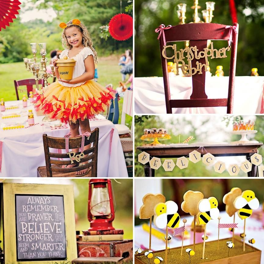 """Get ready to fall in love with this Magical """"100 Akre Wood"""" Winnie the Pooh Party"""