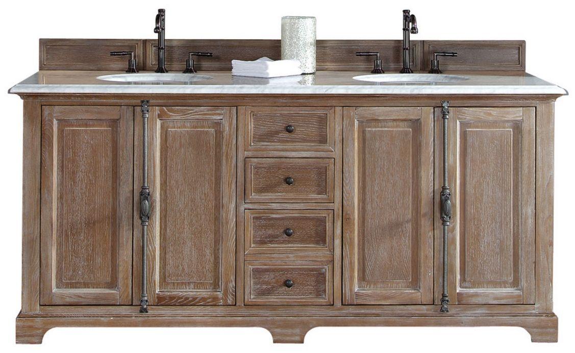 72 Providence Driftwood Double Sink Bathroom Vanity Closed Doors Double Sink Bathroom And