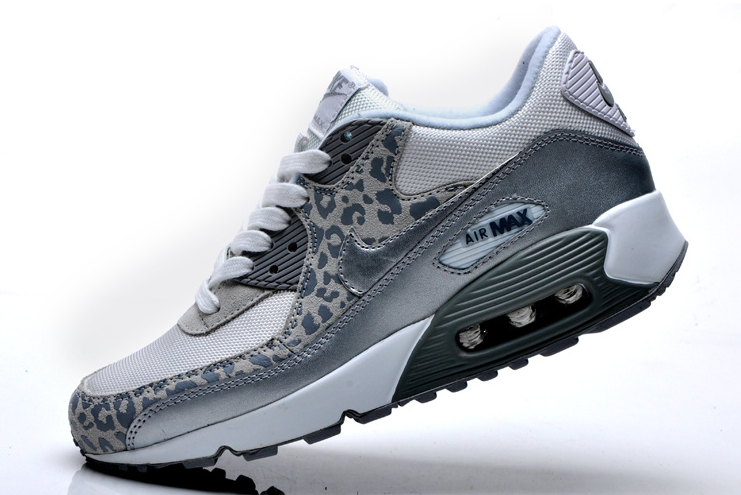 new styles 780ca fea94 Nike Air Max 90 Soldes Femme Grise Leopard Chaussures
