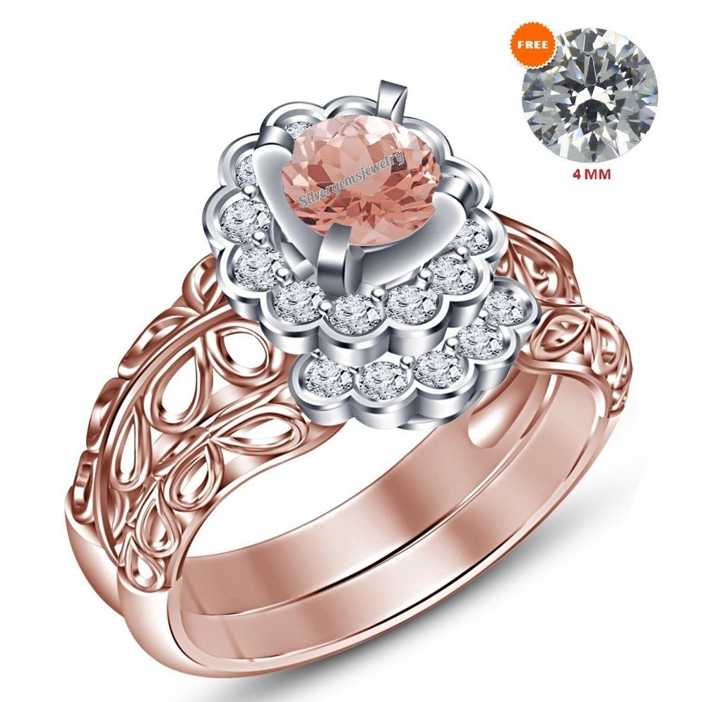 Details about 1.50 Ct 14K Rose Gold Round