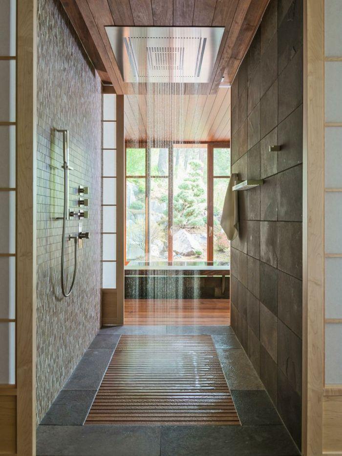 Moderne Duschen Badezimmer Bodenbelag Ideen