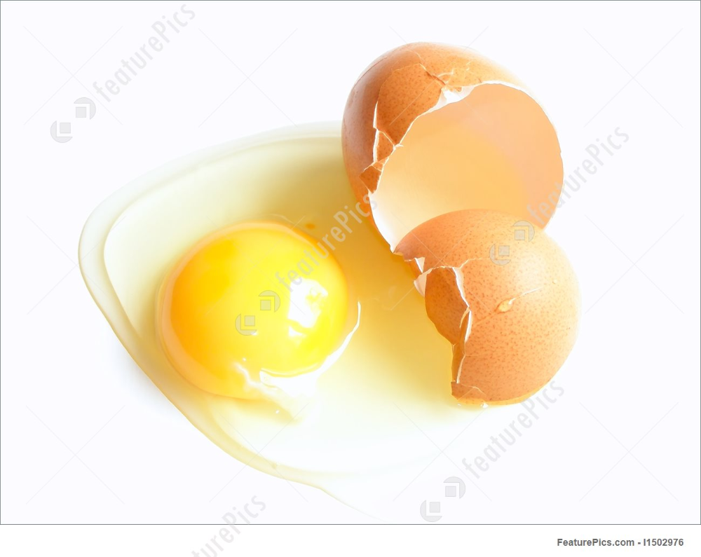 Food Broken Egg And It S Shell On The White Table Broken Egg Eggs Food
