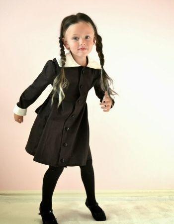 Deguisement Mercredi Addams déguisement mercredi addams : un col de chemise blanc + une robe