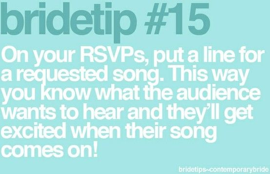 Everyone wants to hear their fav song!