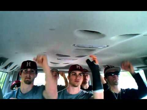 """Harvard baseball team rockin' out to Carly Rae Jepsen """"Call Me Maybe"""" in the team van. So INTENSE xD   < 33333 super love to these guys  The players in the video (from left to right starting with the back row): Jack Colton (the one sleeping), Jeff Reynolds, Steven Dill, Andrew Ferreira, Marcus Way, Kyle Larrow, Jon Smart, and Joey Novak."""