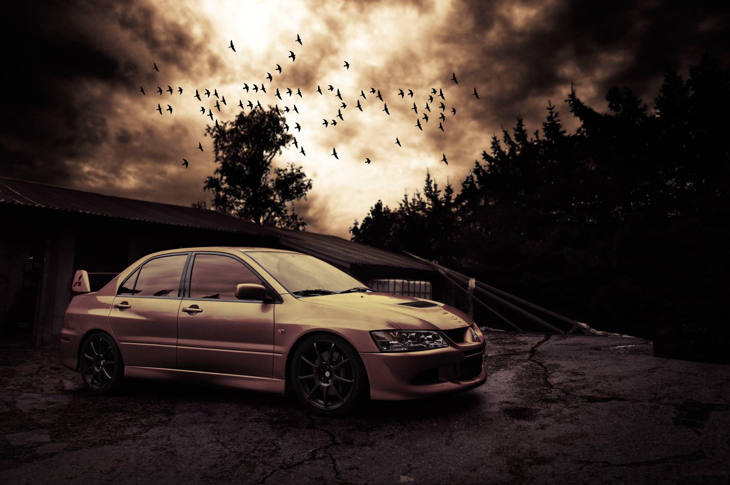Delicieux Silver Mitsubishi Lancer Evolution VIII HD Wallpaper. | Lancer EVO