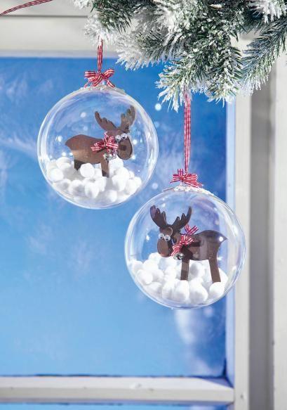 Weihnachtskugeln mit fr hlichen elchen kostenlose - Weihnachtskugeln durchsichtig ...