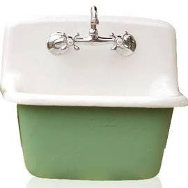 Deep Utility Sink Antique Inspired Cast Iron Porcelain Farm Sink