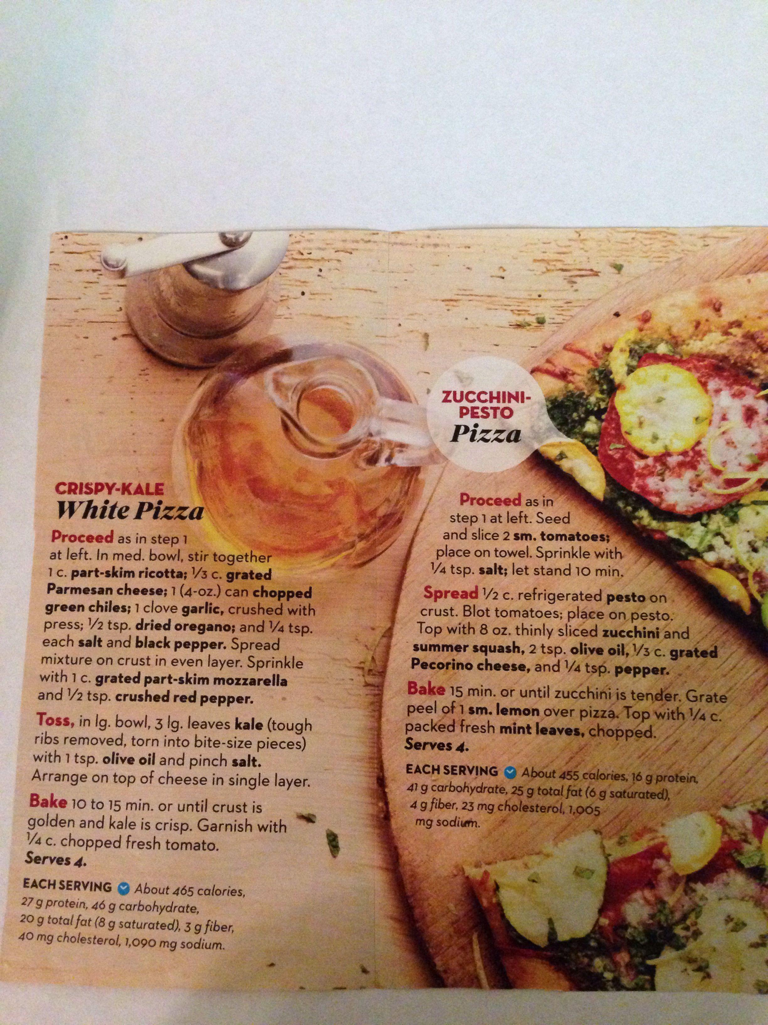 Pizza- kale, zucchini pesto