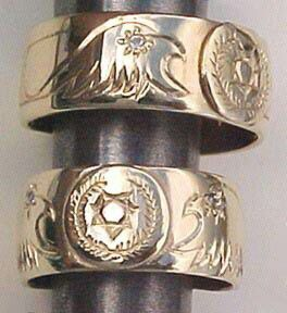 Cherokee wedding rings indin jegygyr Exotic jewelry