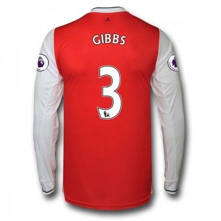 Arsenal 16-17 Kieran Gibbs 3 Hjemmedraktsett Langermet.  http://www.fotballteam.com/arsenal-16-17-kieran-gibbs-3-hjemmedraktsett-langermet.  #fotballdrakter