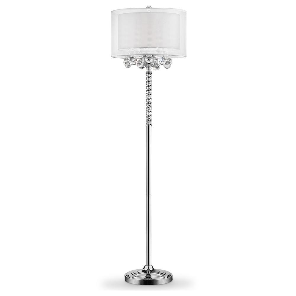 Ore International 62 5 In 3 Bulb Moiselle Crystal Floor Lamp In 2020 Crystal Floor Lamp Floor Lamp Crystal Floor