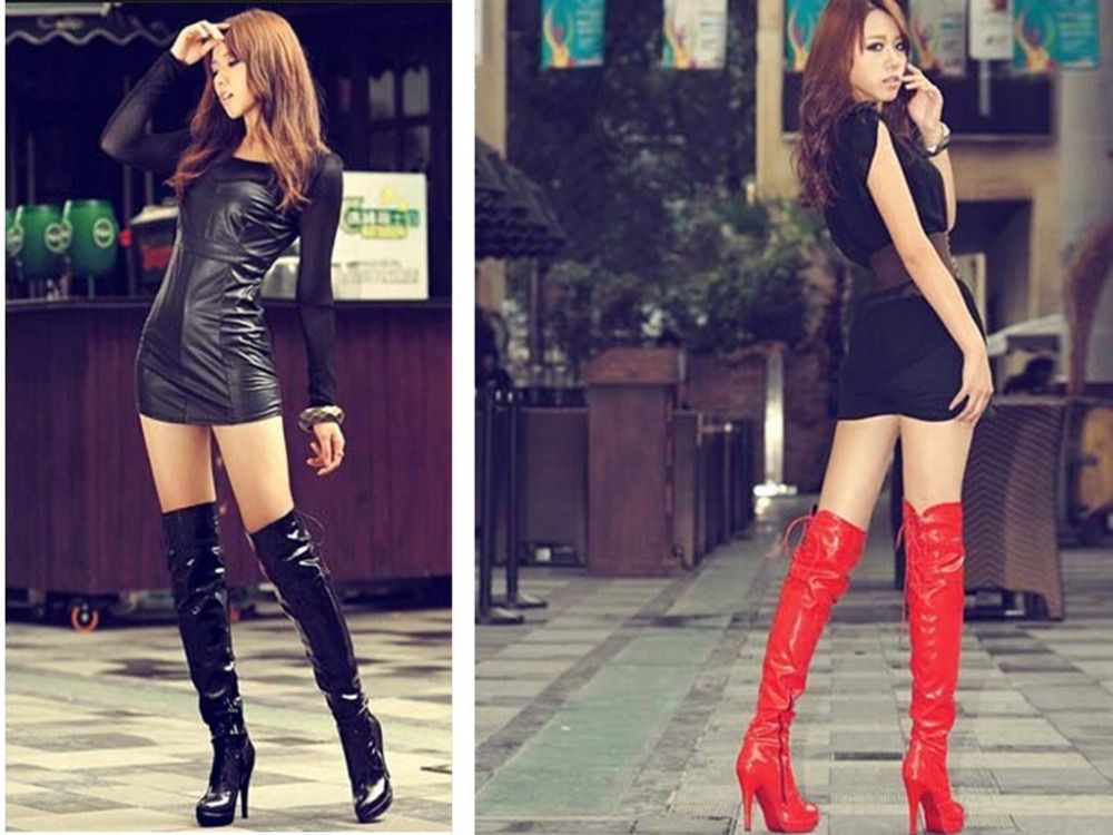 Cheap Heel Knee High Boots Buy Quality Boot Lock Directly