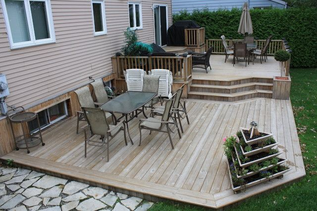 Design of Backyard Deck Ideas Ground Level Patio Deck Art ... on Ground Level Patio Ideas id=44589