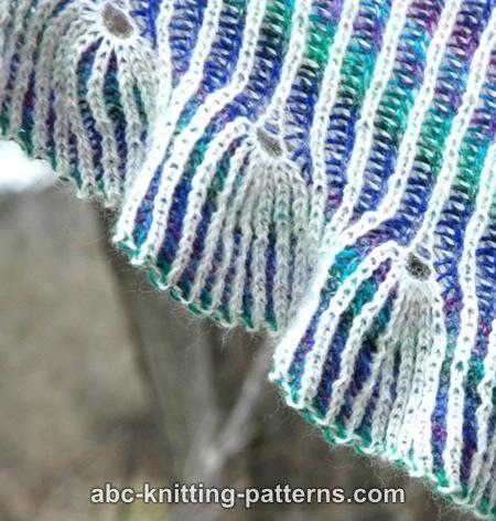 ABC Knitting Patterns - Reversible Brioche Shawl with Tulip Ruffle ...