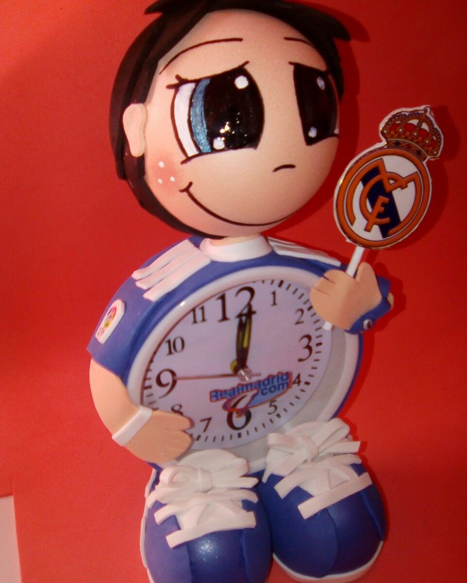 Fofu Reloj Real Madrid Fofuanika Fofuchas Pinterest # Muebles Para Fofuchas