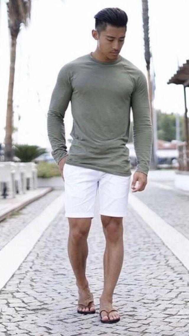 Flip Flops Style | Sommer kleidung, Lässige mode für männer