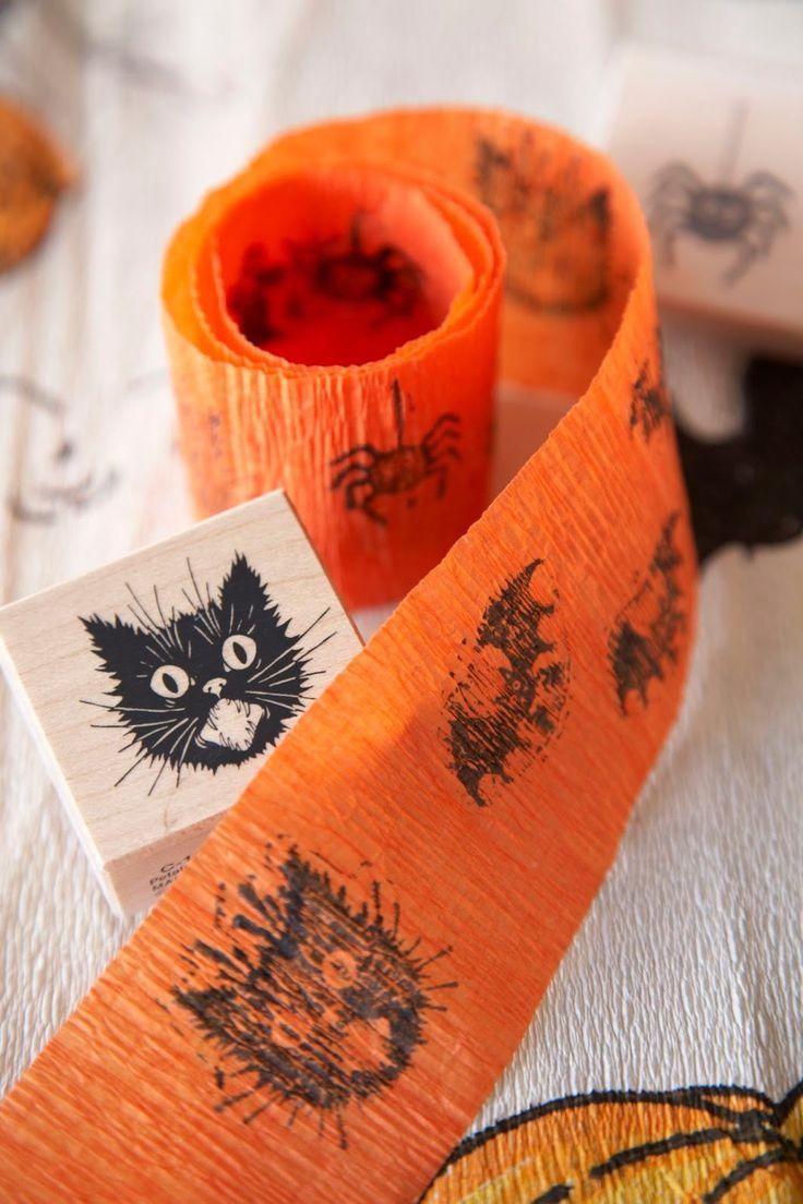 Crepe Paper Halloween, Back to Basics Vintage halloween, Scary - scary halloween decor