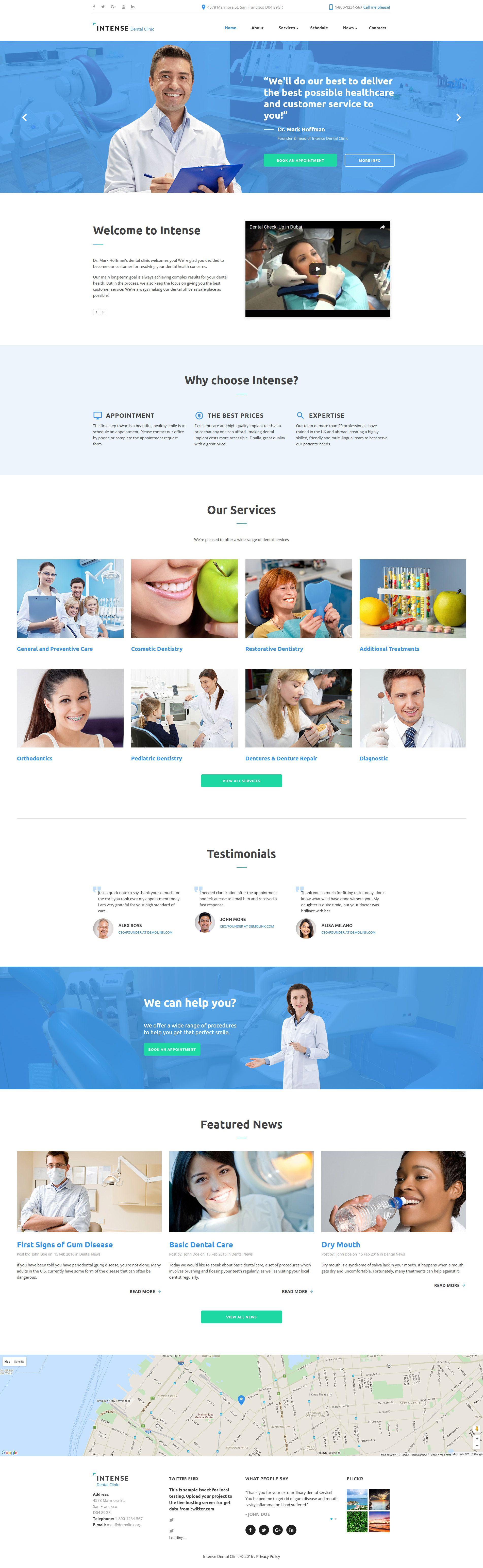 dental clinic website design