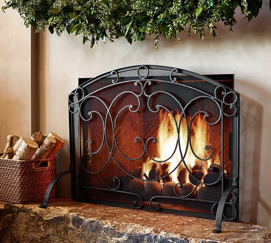 Aspen Fireplace Single Screen Fireplace Fireplace Doors Fireplace Screens