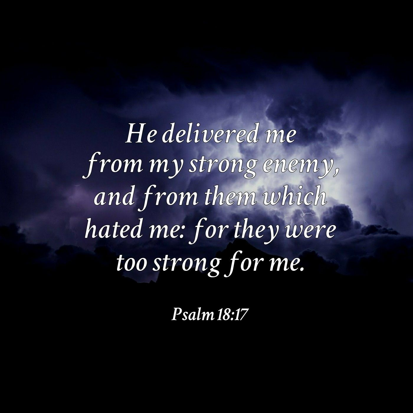 Image result for Psalm 18:17