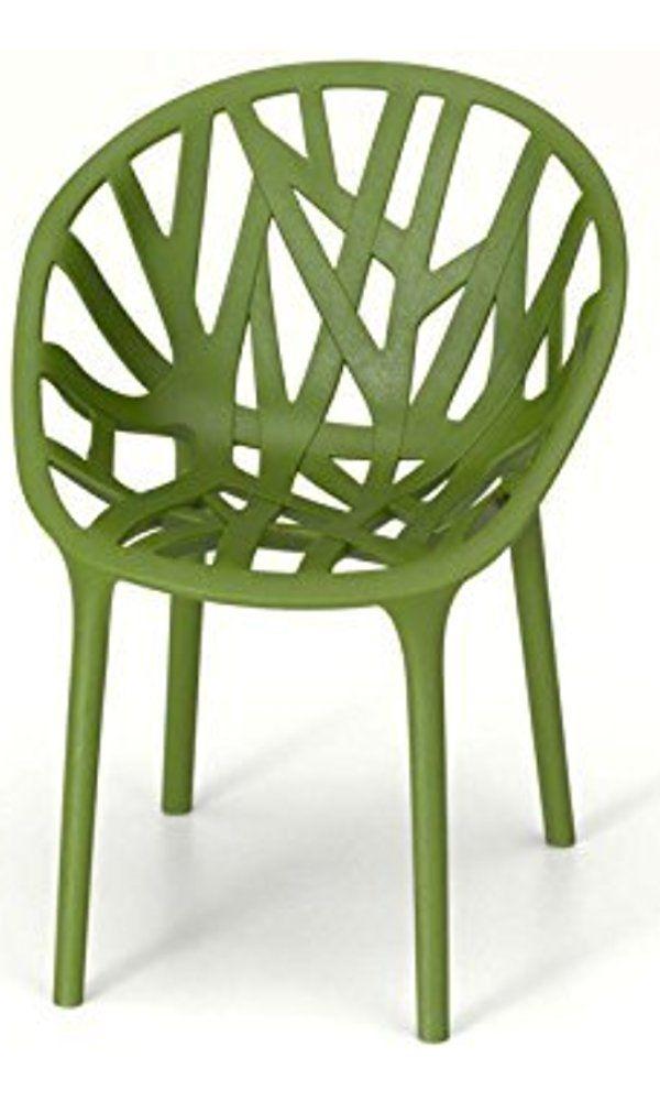 Vitra Vegetal Stacking Chair: Carpet Glides   Cactus Best Price
